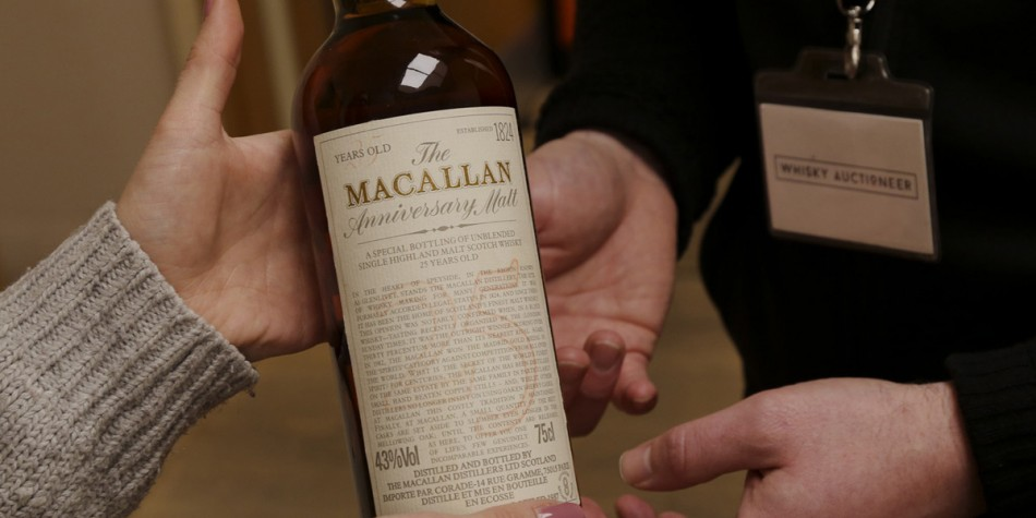 How to sell whisky at an online auction