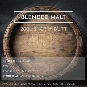1 Blended Malt 2001 Sherry Butt / Cask in storage at Whiskybroker