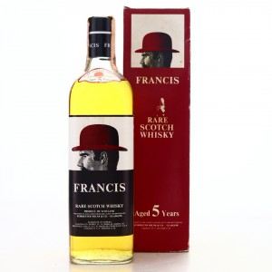 Francis 5 Year Old Red Bowler Rare Scotch Whisky 1970s