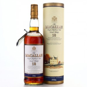 Macallan 1986 18 Year Old 75cl / US Import