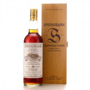 Springbank 1966 Private Bottling 34 Year Old / Lateltin Laz Ingold Ag