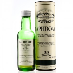 Laphroaig 10 Year Old Pre-Royal Warrant Miniature