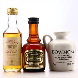 Bowmore Miniatures x 3