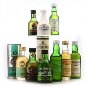 Islay & Island Miniatures x 9 / Includes Laphroaig Pre-Royal Warrant