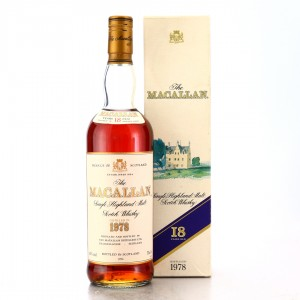 Macallan 1978 18 Year Old 75cl / US Import