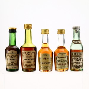 Hennessy Cognac Miniatures x 5