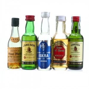 Whisky, Cognac and Vodka Miniatures x 5
