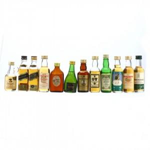 Blended Whisky Miniature x 12