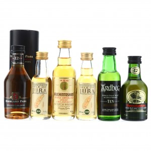 Lowland, Islay and Island Single Malt Miniature x 6