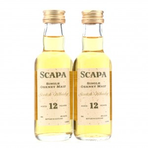 Scapa 12 Year Old Miniature x 2