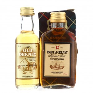 Pride of Orkney 12 Year Old 100 Proof & Old Orkney Miniatures x 2