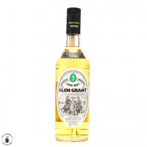 Glen Grant 1981 5 Year Old / Seagram Italia Import