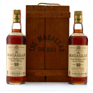 Macallan 10 Year Old 1980s 2 x 75cl / Giovinetti Import