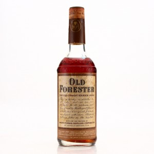 Old Forester Kentucky Straight Bourbon 86 Proof 1960s
