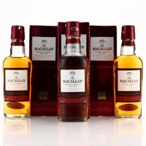 Macallan Whisky Maker's Edition Miniatures x 3