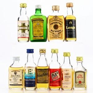 Scotch Whisky Miniatures x 10