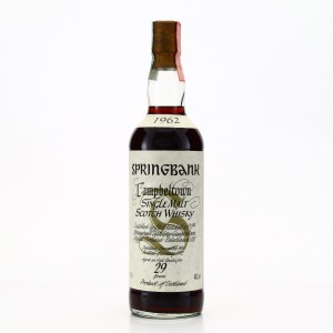 Springbank 1962 29 Year Old