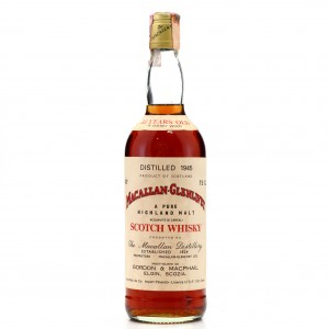 Macallan 1945 Gordon and MacPhail 33 Year Old / Co. Pinerolo Import