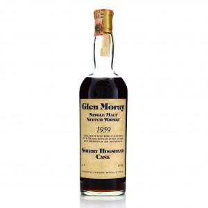 Glen Moray 1959 Samaroli 25 Year Old Sherry Hogshead / Signed by Silvano Samaroli