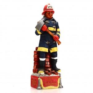 Old Commonwealth 7 Year Old Volunteer Firefighter Decanter 1978 / Stitzel-Weller