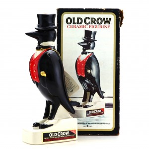 Old Crow 7 Year Old Ceramic Figurine Decanter 1960s