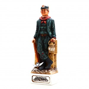 Old Commonwealth 7 Year Old Old Time Coal Miner Decanter 1976 / Stitzel-Weller