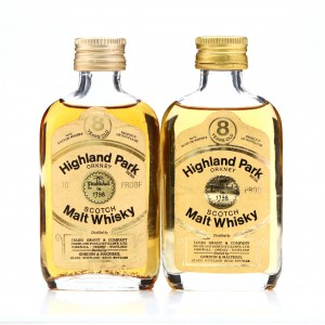 Highland Park 8 Year Old Gordon and MacPhail Miniature x2 1970s