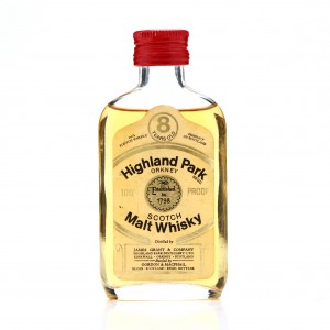 Highland Park 8 Year Old Gordon and MacPhail 100 Proof Miniature 1970s