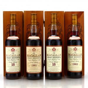 Macallan Gran Reserva 1979 - 1982 4 x 70cl
