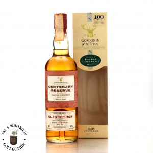 Glenrothes 1978 Gordon and MacPhail Centenary Reserve