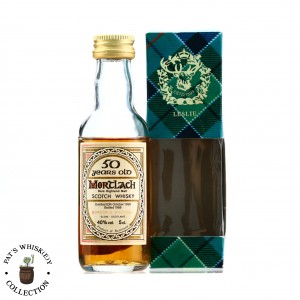Mortlach 1938 Gordon and MacPhail 50 Year Old 'Book of Kells' Miniature