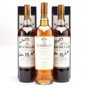 Macallan 2007 The Ultimate Dinner Single Cask #16588 & 1995 18 Year Old Signed x 2 / El Celler de Can Roca 2