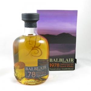 Balblair 1978 front