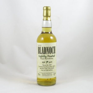 Bladnoch 2001 Lightly Peated front