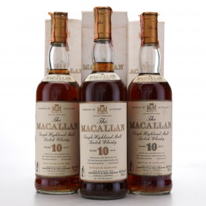 Macallan 10 Year Old 1980s 3 x 75cl / Giovinetti Import