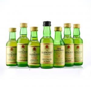 Glenlivet 12 Year Old Miniature x 7