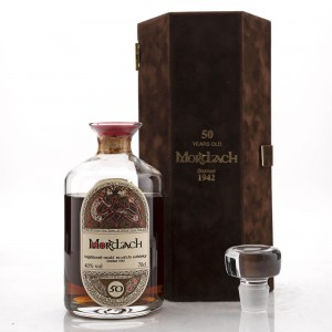 Mortlach 1942 Gordon and MacPhail 50 Year Old 'Book of Kells' Decanter