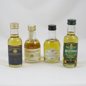Misc Single Malt Miniatures 5cl x 4 front
