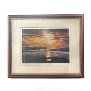 """Highland Park Images of Orkney Prints / """"Sunset Over Hoy, From Marwick"""""""