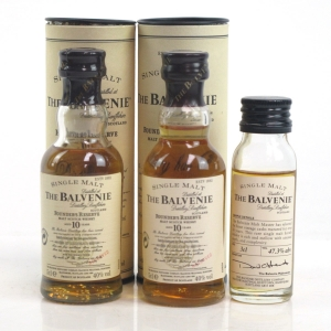 Balvenie 10 Year Old Founders Reserve 2 x 5cl and 30 Year Old Malt Master's Selection 3cl