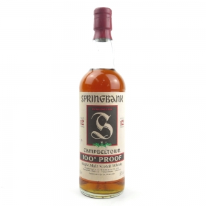Springbank 12 Year Old Green Thistle / 100 Proof