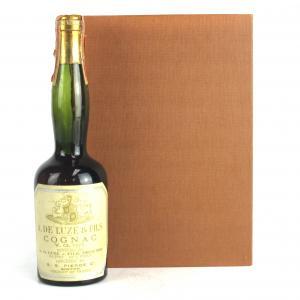 De Luze VO Cognac 3/4 Pint 1960s US Import / includes Handbook of Fine Brandy