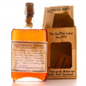 Old Forester 1917 Bottled in Bond Bourbon / Prohibition Era Bottling
