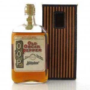 Old Oscar Pepper 1916 Bottled in Bond Whiskey Pint / Prohibition Era Bottling