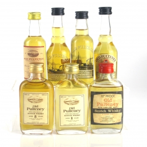Old Pulteney Miniature Selection 7 x 5cl / Including 1982 Single Cask
