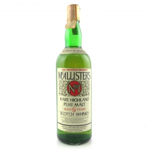 McAllisters 6 Year Old No.1 Rare Highland Pure Malt 1980s