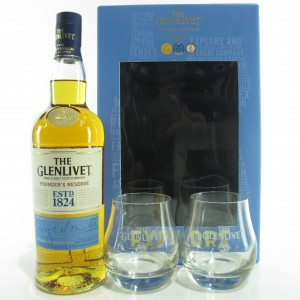 Glenlivet Founder's Reserve / with 2 x Glasses