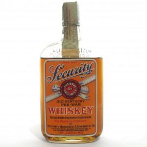 Security Brand 1917 Bottled in Bond 12 Year Old / Prohibition Era Bottling