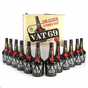 VAT 69 Full Case 12 x Bottle 1960s