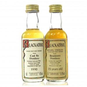 Bowmore 1973 & Caol Ila 1990 Blackadder Miniature 2 x 5cl